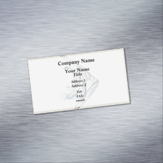 Fractal - Angelfish Magnetic Business Card