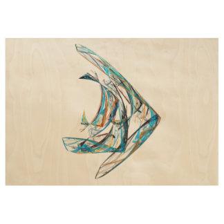 Fractal - Angelfish Wood Poster