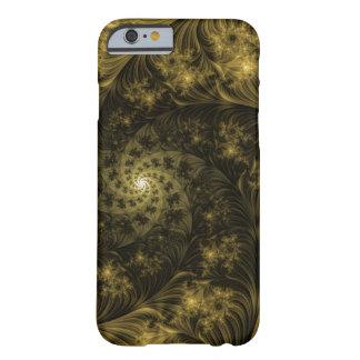 Fractal Apple/Android Case - Golden Swirl