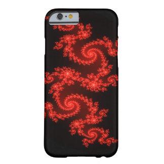 Fractal Apple/Android Case - Vibrant Red Spiral