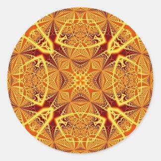 Fractal Art 1229 Round Sticker