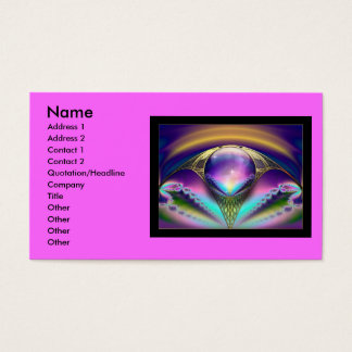 Fractal_Art_30, Name, Address 1, Address 2, Con... Business Card