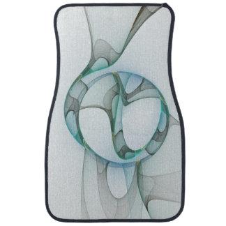 Fractal Art Blue Turquoise Gray Abstract Elegance Floor Mat
