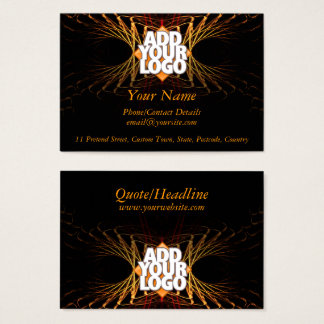 Fractal Art Business Profile  (with Logo Space) Business Card
