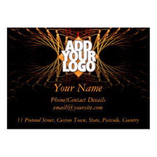 Fractal Art Business Profile  (with Logo Space) Pack Of Chubby Business Cards
