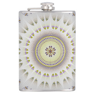 Fractal Art Design Hip Flask