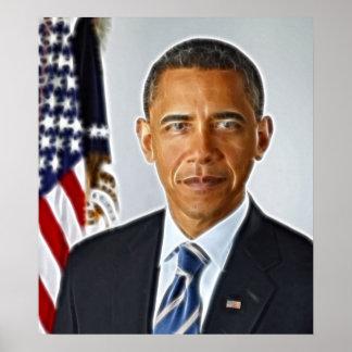 Fractal Art, Official Portrait Barack Obama Poster
