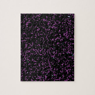 Fractal Art Purple Pink Glitter Patterns Black Puzzles