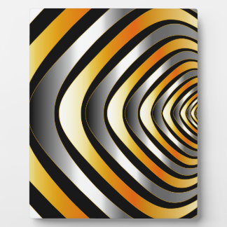 Fractal background with metal plaque
