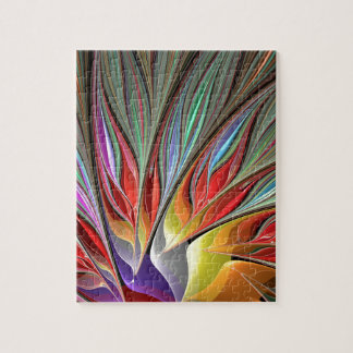 Fractal Bird of Paradise Jigsaw Puzzle