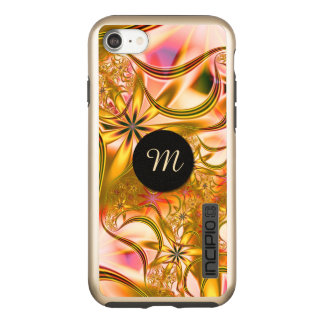 Fractal Blossoming Gold Monogram Incipio DualPro Shine iPhone 8/7 Case
