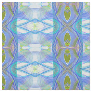 fractal blue ethnic pattern. fabric