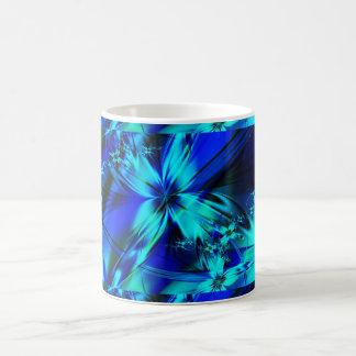 fractal blue flower mug
