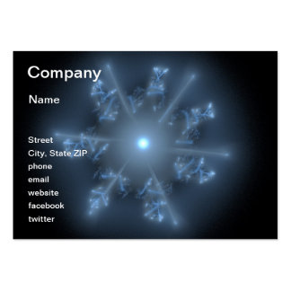 Fractal Blue Star Pack Of Chubby Business Cards