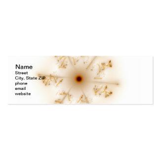 Fractal Brown Star Pack Of Skinny Business Cards