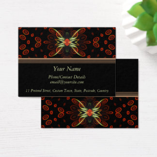 Fractal Butterfly Contact Business Card
