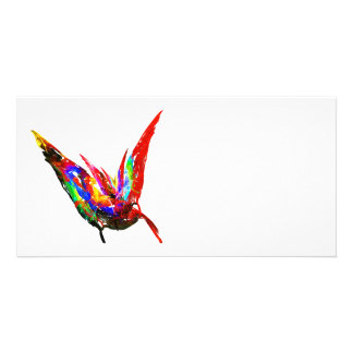 Fractal - Butterfly Flying Personalized Photo Card