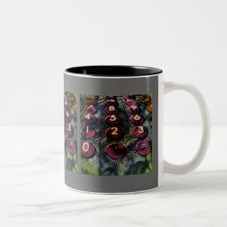 Fractal By Numbers Two-Tone Mug