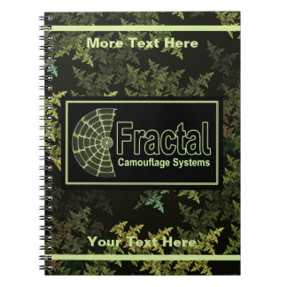 Fractal Camouflage Systems Logo Spiral Notebook