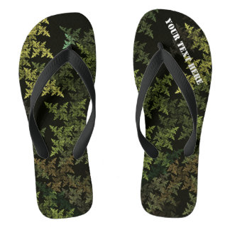 Fractal Camouflage Thongs