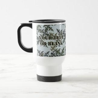 Fractal Camouflage - Winter Stainless Steel Travel Mug
