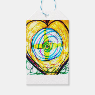 Fractal Cartoids Crosses and the Spiral Band by Lu Gift Tags