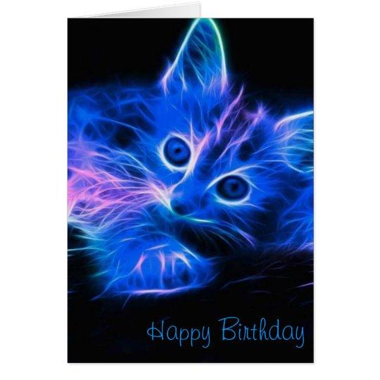 Fractal Cat Birthday Card
