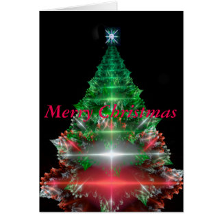 fractal Christmas tree Card