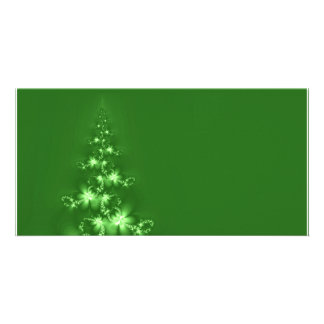 Fractal Christmas tree Personalized Photo Card