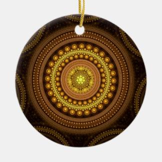 Fractal Circles Ceramic Ornament
