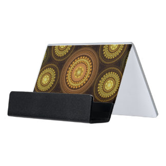 Fractal Circles Desk Business Card Holder