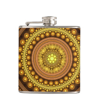 Fractal Circles Hip Flask