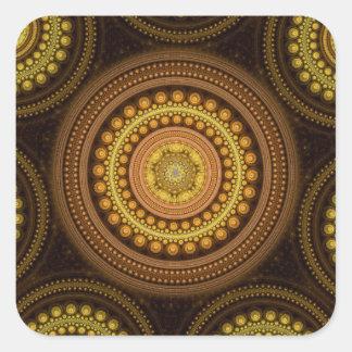 Fractal Circles Square Sticker