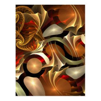 Fractal Colorful Design Post Cards