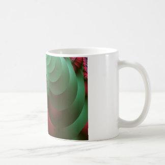 fractal Coloured  Spirals. Basic White Mug