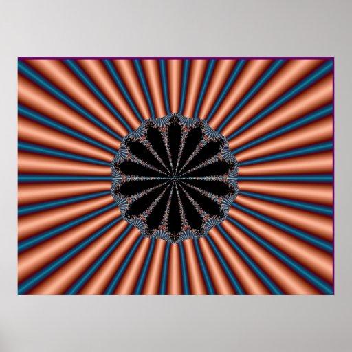Fractal Copper Poster