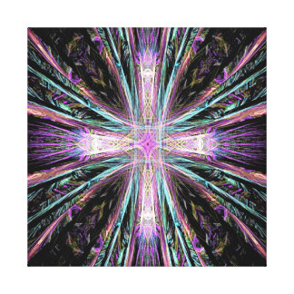 Fractal Cross design on wrapped canvas Gallery Wrap Canvas