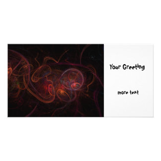 Fractal Dark Red Picture Card