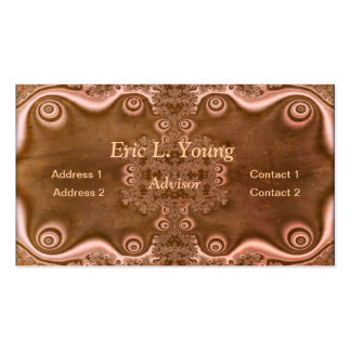 Fractal Decorations on a Brown Metallic Surface Pack Of Standard Business Cards