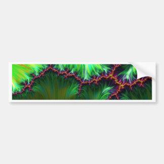 fractal duocolor, green bumper stickers
