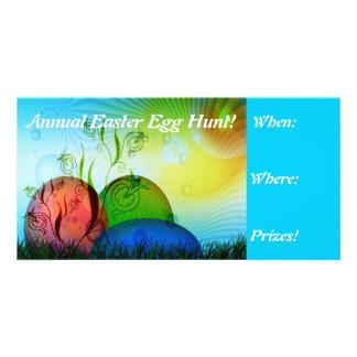 Fractal Easter Egg Hunt Invites Photo Card