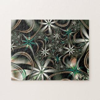 Fractal Elegant Blooms Jigsaw Puzzle