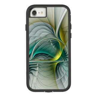 Fractal Evolution, Golden Turquoise Abstract Art Case-Mate Tough Extreme iPhone 8/7 Case