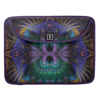 Fractal Exotic Feathers Macbook Pro Laptop Sleeve