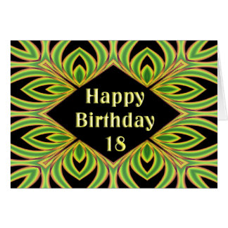 Fractal Fern 18th Birthday Card