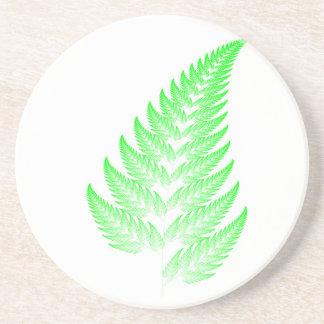 Fractal fern leaf coaster