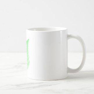 Fractal fern leaf coffee mug