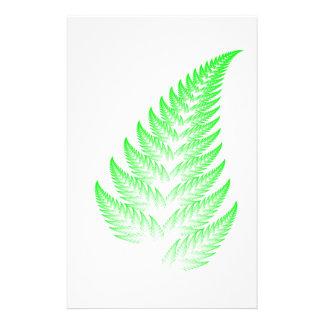 Fractal fern leaf stationery