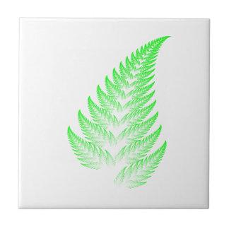 Fractal fern leaf tile
