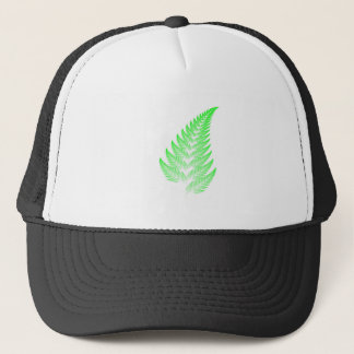 Fractal fern leaf trucker hat